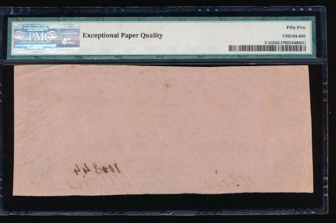 1862 $1 Confederate States of America Note PMG 55EPQ - 2