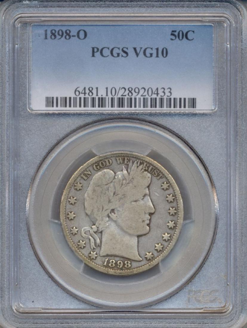 1898-O Baber Half Dollar Coin PCGS VG10