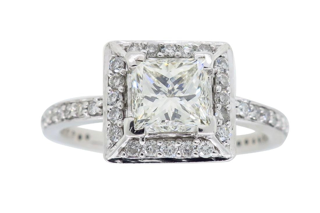 14KT White Gold 1.01ct Diamond Ring