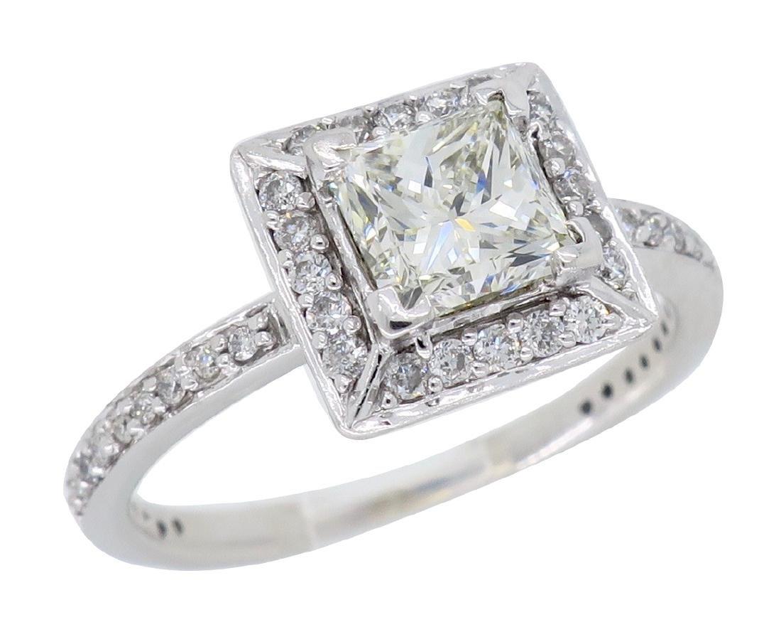 14KT White Gold 1.01ct Diamond Ring - 2