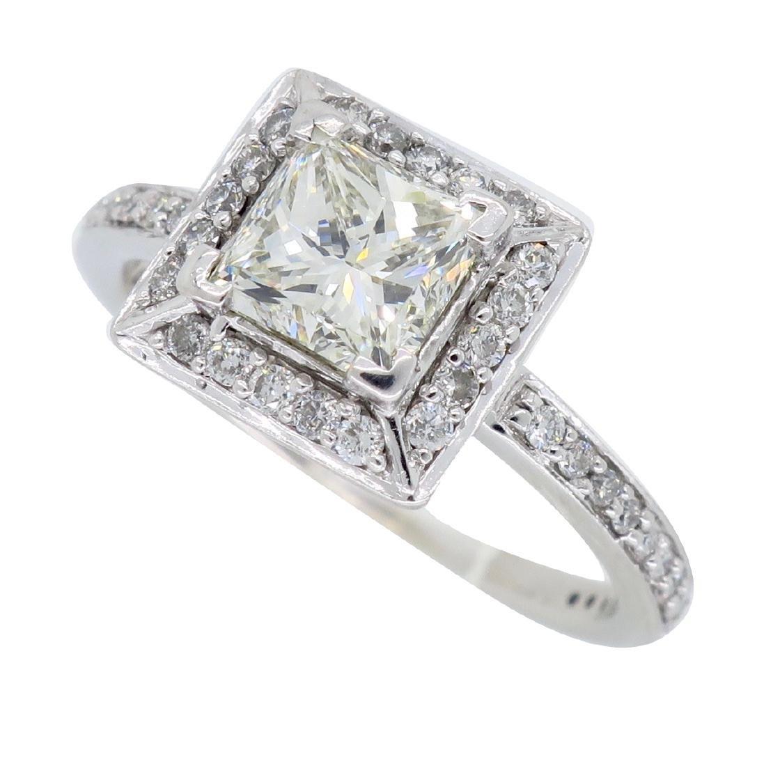14KT White Gold 1.01ct Diamond Ring - 3