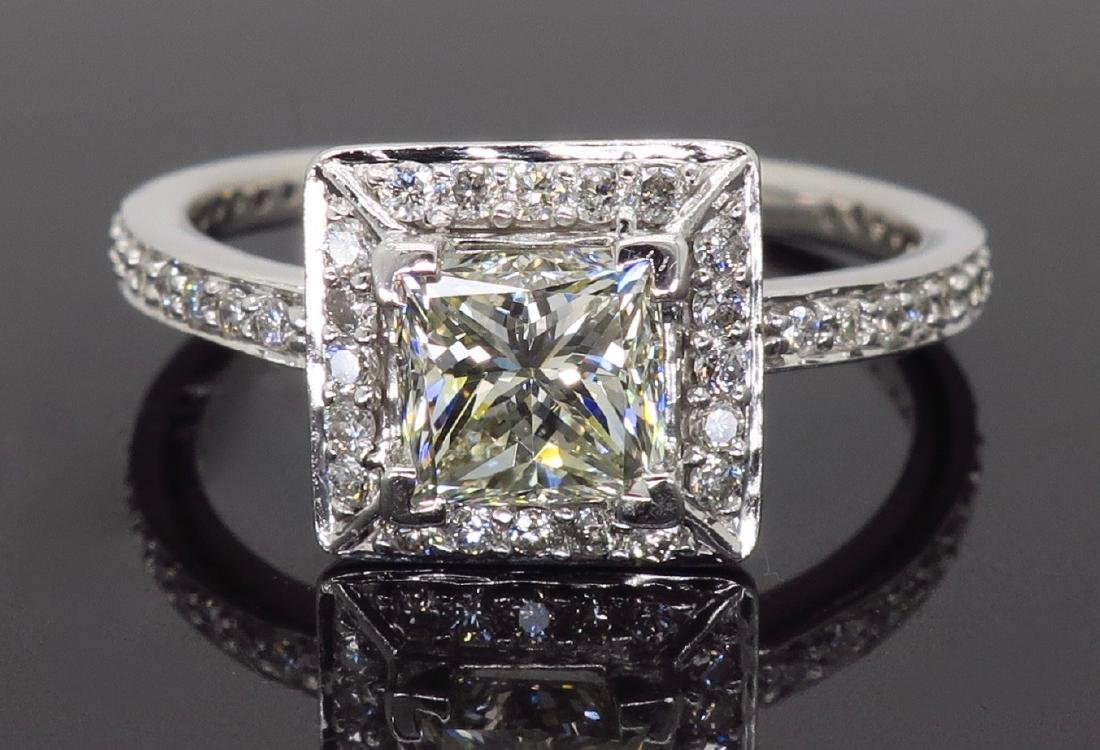 14KT White Gold 1.01ct Diamond Ring - 4