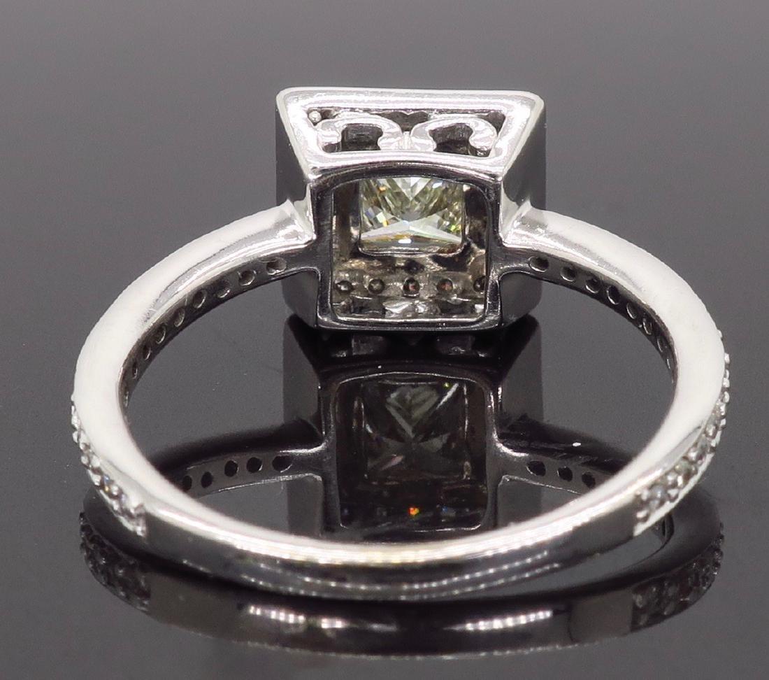 14KT White Gold 1.01ct Diamond Ring - 5
