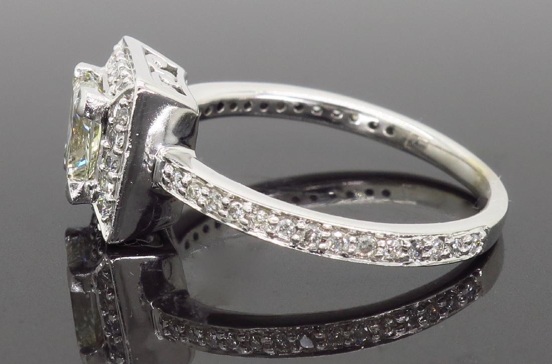 14KT White Gold 1.01ct Diamond Ring - 6