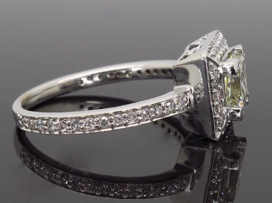 14KT White Gold 1.01ct Diamond Ring - 7