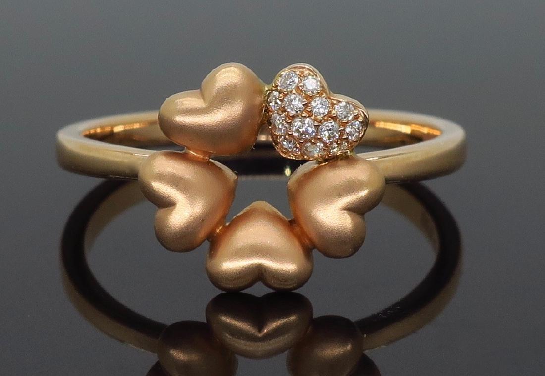 14KT Rose Gold 0.05ctw Diamond Ring