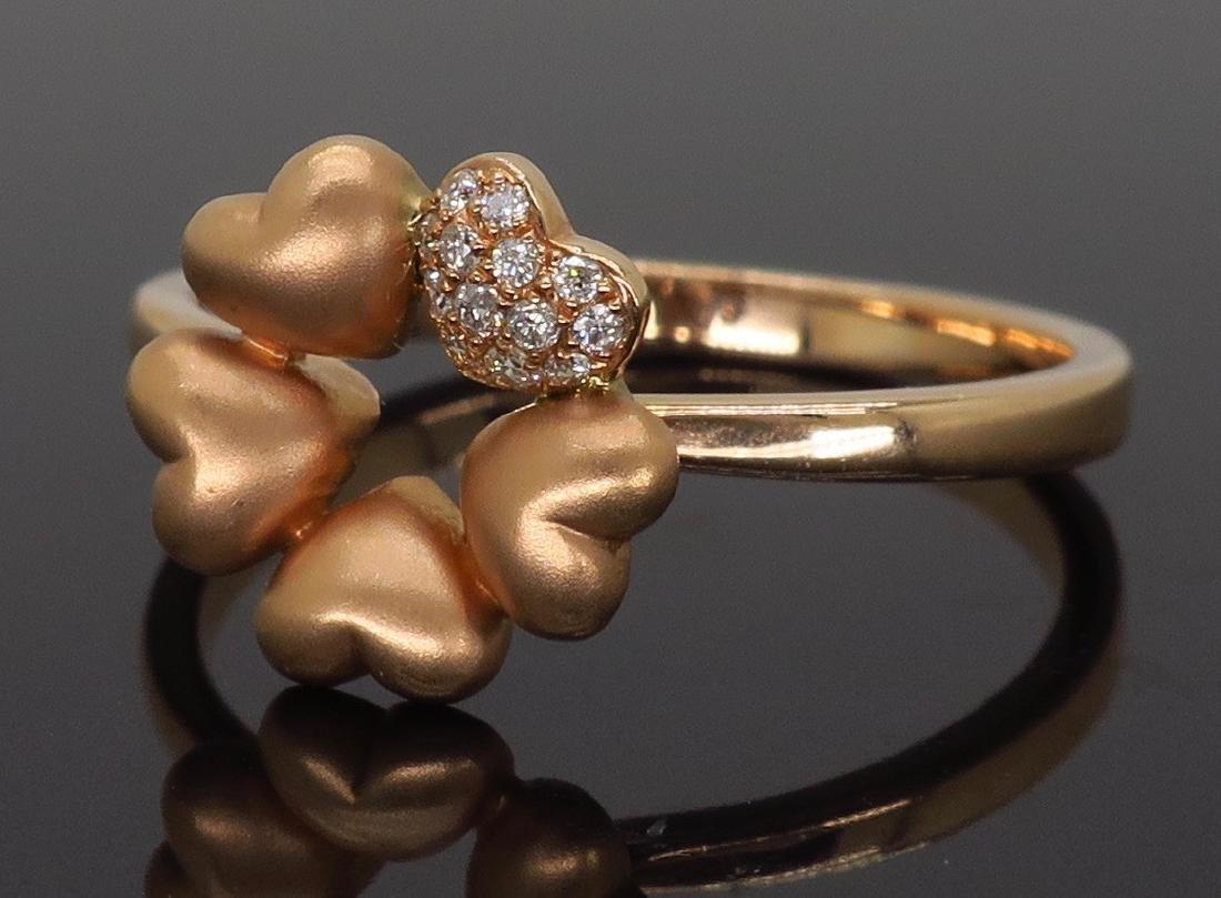 14KT Rose Gold 0.05ctw Diamond Ring - 2