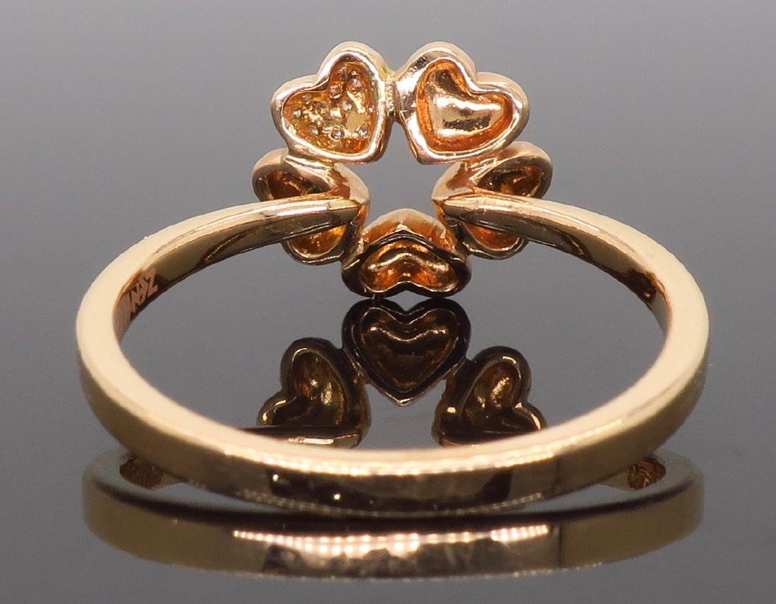 14KT Rose Gold 0.05ctw Diamond Ring - 3