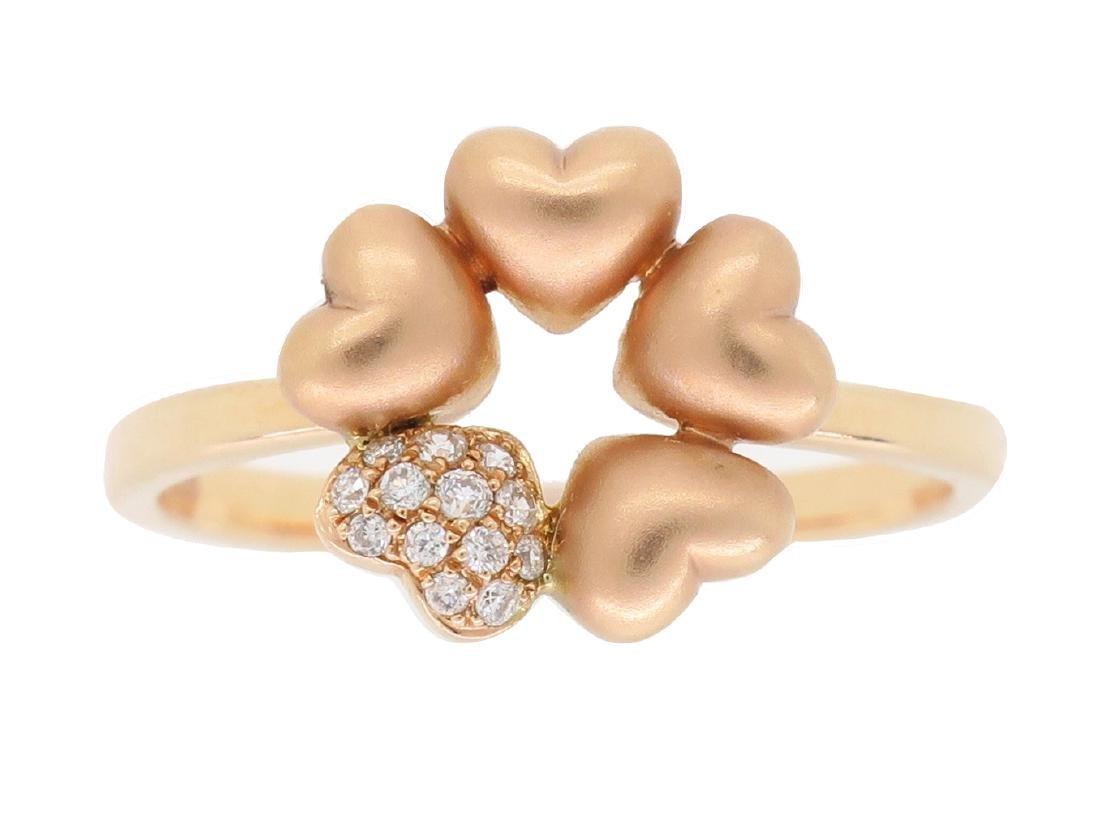 14KT Rose Gold 0.05ctw Diamond Ring - 6