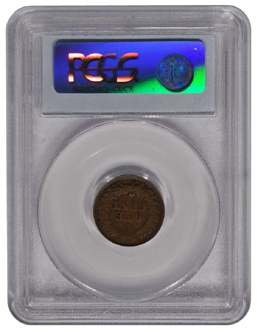 1867/67 Indian Cent Coin PCGS VG10 - 2
