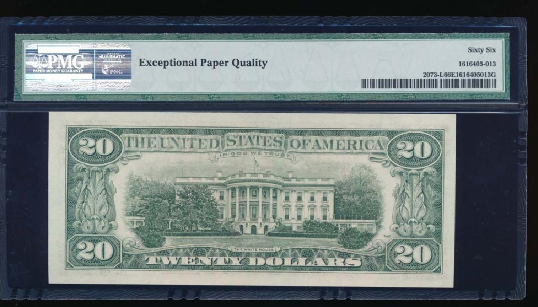 1981 $20 San Francisco Federal Reserve Note PMG 66EPQ - 2