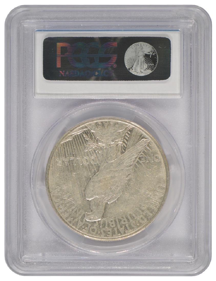 1921 $1 Peace Silver Dollar Coin PCGS XF45 - 2