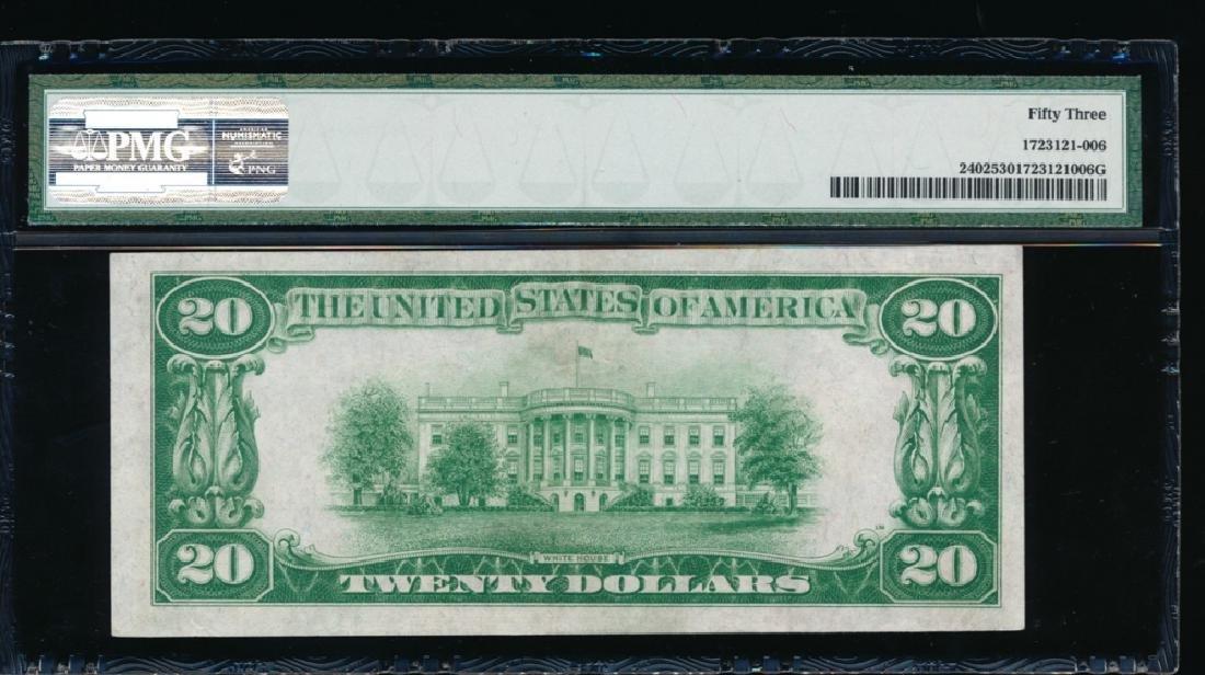 1928 $20 Gold Certificate PMG 53 - 2