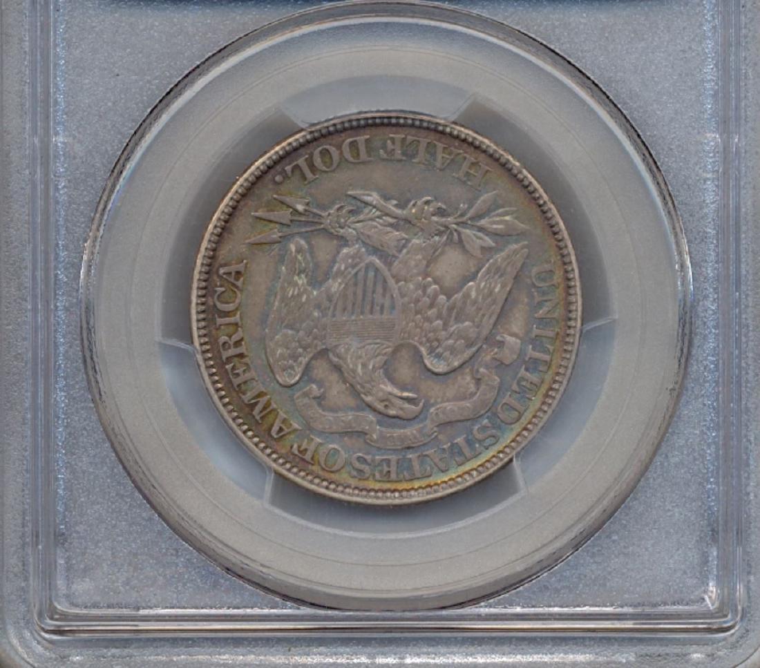1873 Arrows Liberty Seated Half Dollar Coin PCGS AU50 - 2