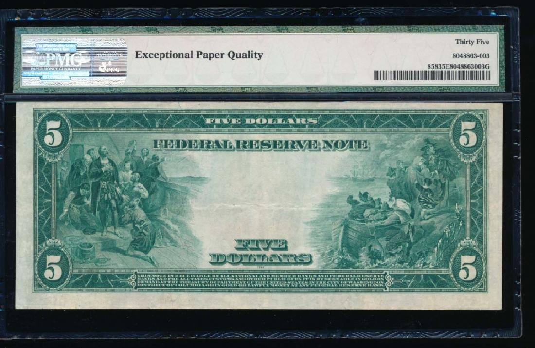 1914 $5 Cleveland Federal Reserve Note PMG 35EPQ - 2