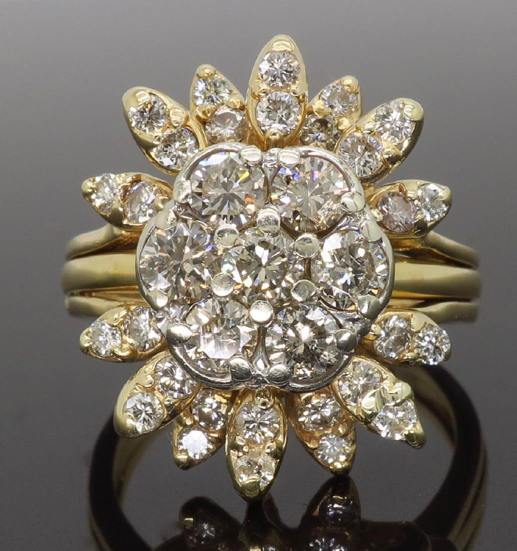 14KT Two Tone Gold 1.50ctw Diamond Ring - 2