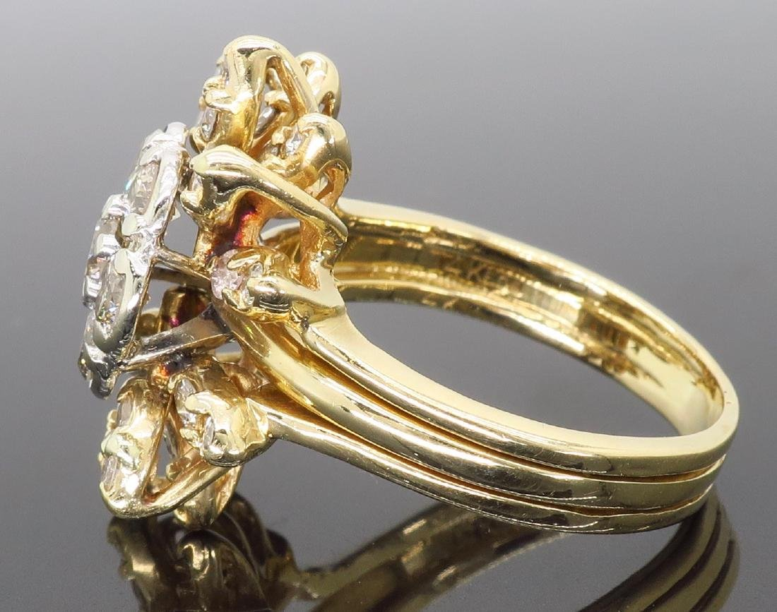 14KT Two Tone Gold 1.50ctw Diamond Ring - 3