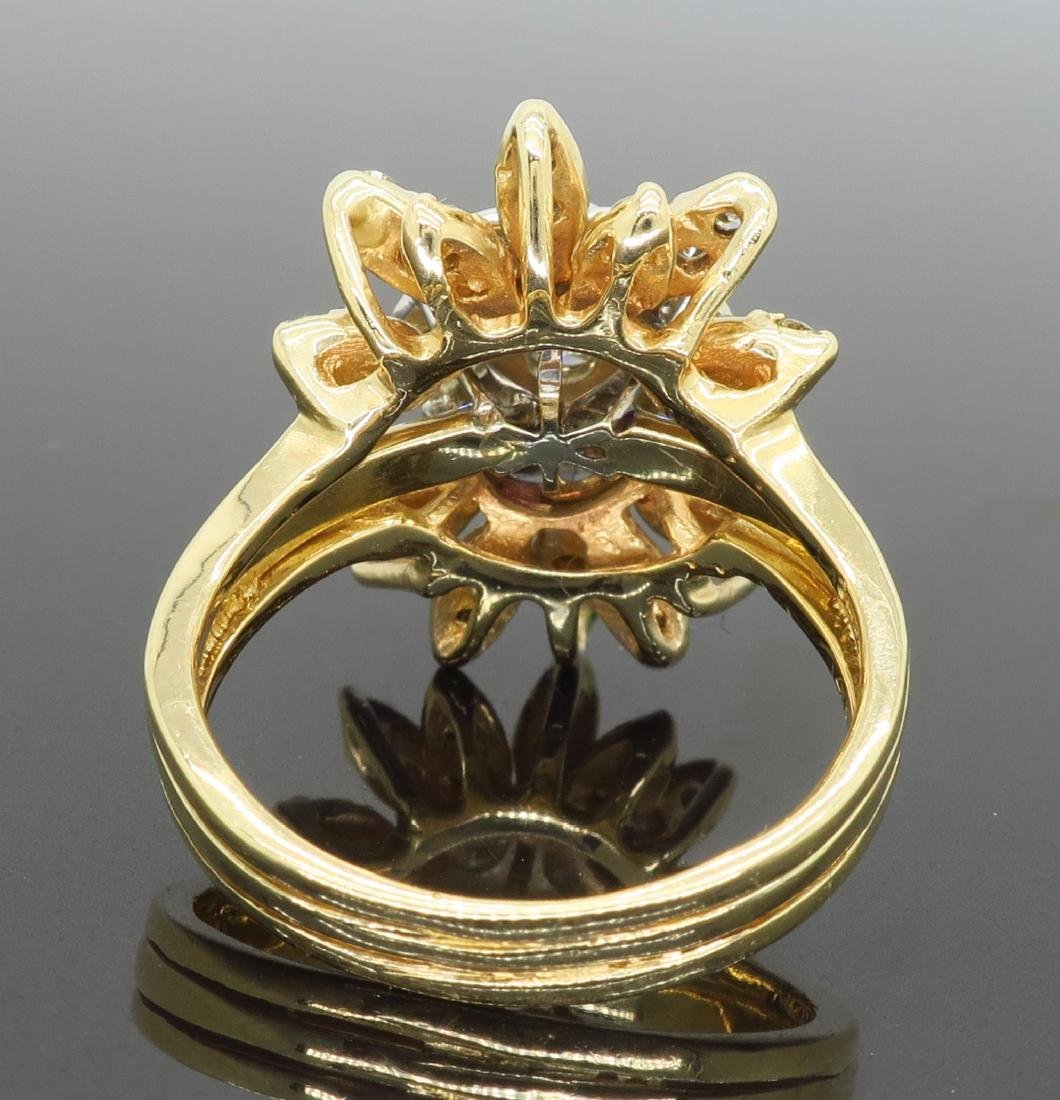 14KT Two Tone Gold 1.50ctw Diamond Ring - 4