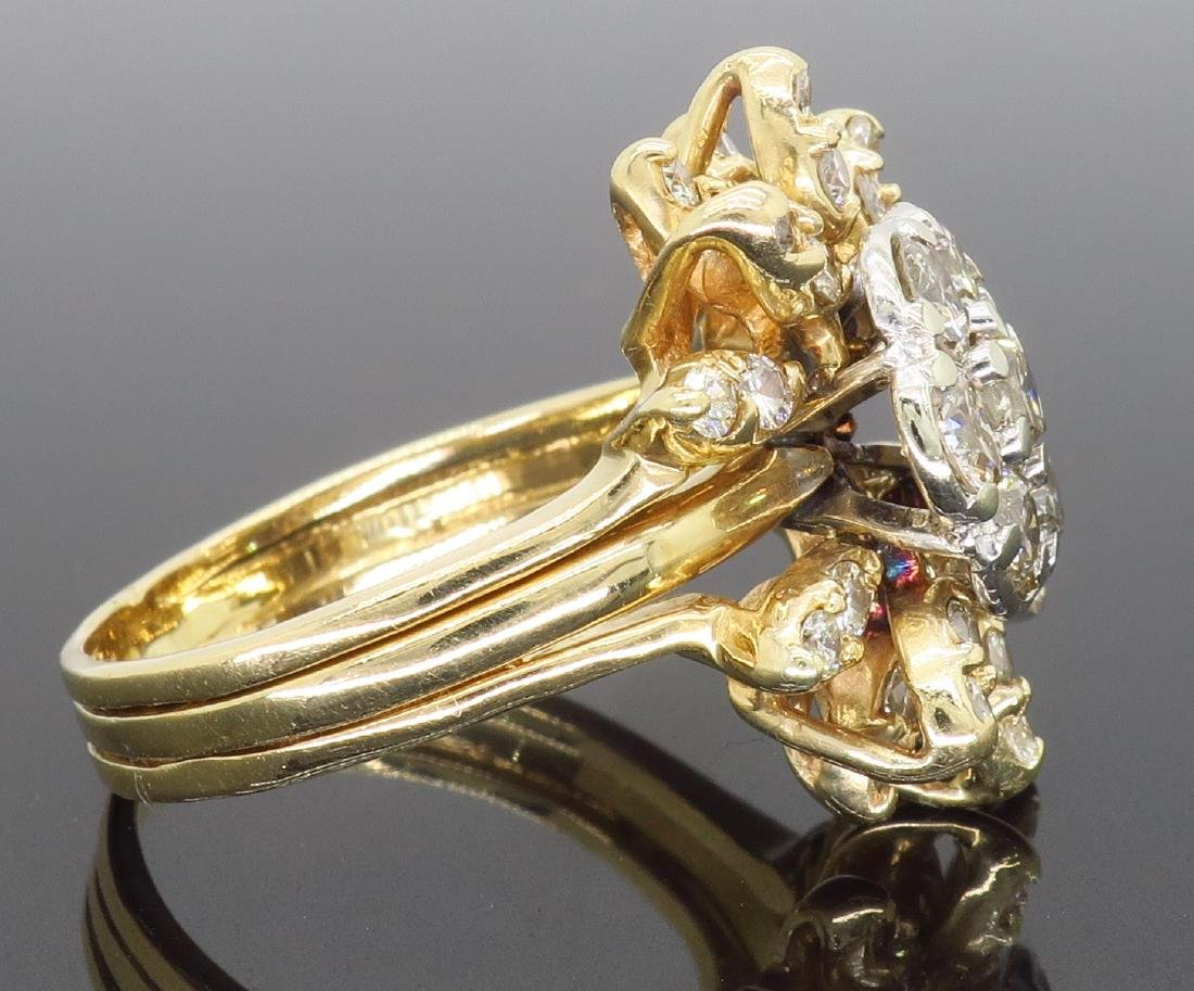 14KT Two Tone Gold 1.50ctw Diamond Ring - 5