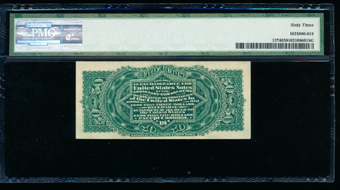 50 Cent Fourth Issue Fractional Note PMG 63 - 2