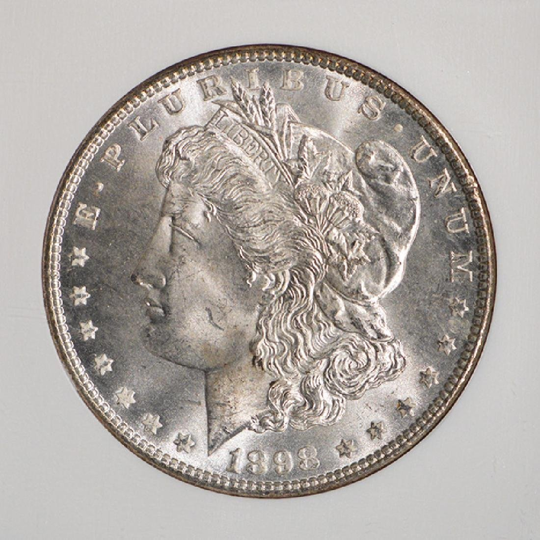 1898 $1 Morgan Silver Dollar Coin NGC MS65 - 3