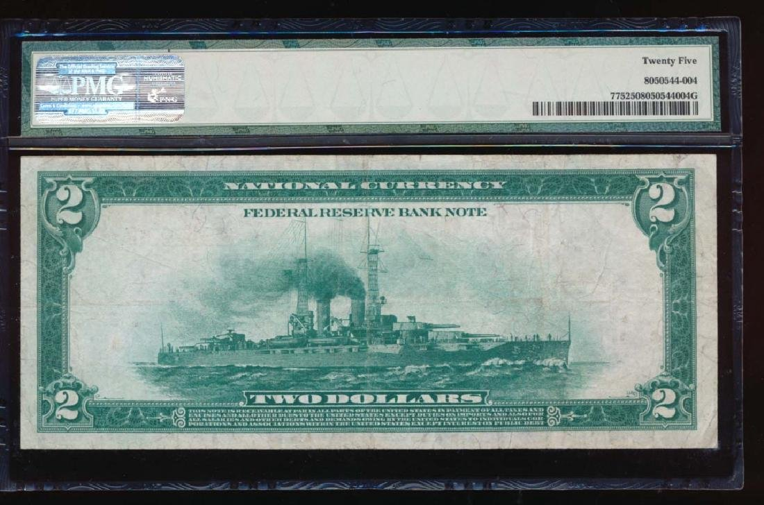 1918 $2 Kansas City Federal Reserve Bank Note PMG 25 - 2
