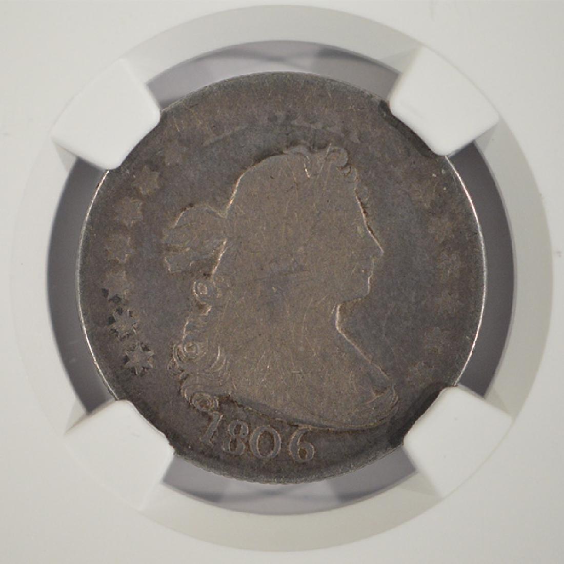 1806 Draped Bust Quarter Coin NGC G4 - 3