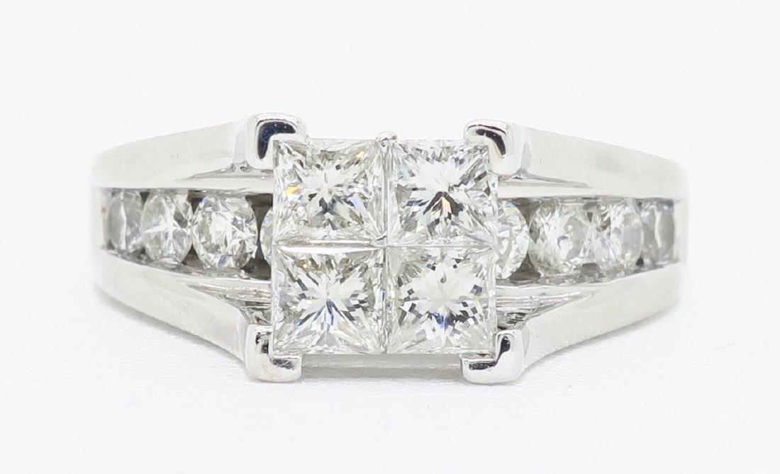 14KT White Gold 2.00ctw Diamond Ring