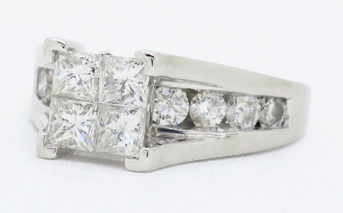 14KT White Gold 2.00ctw Diamond Ring - 2