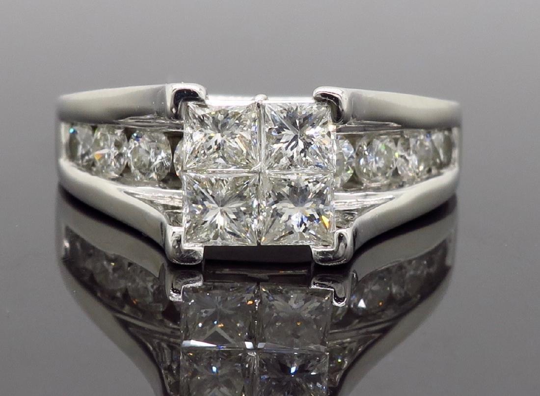14KT White Gold 2.00ctw Diamond Ring - 6