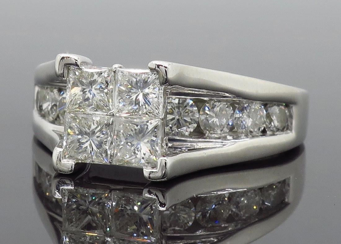 14KT White Gold 2.00ctw Diamond Ring - 7