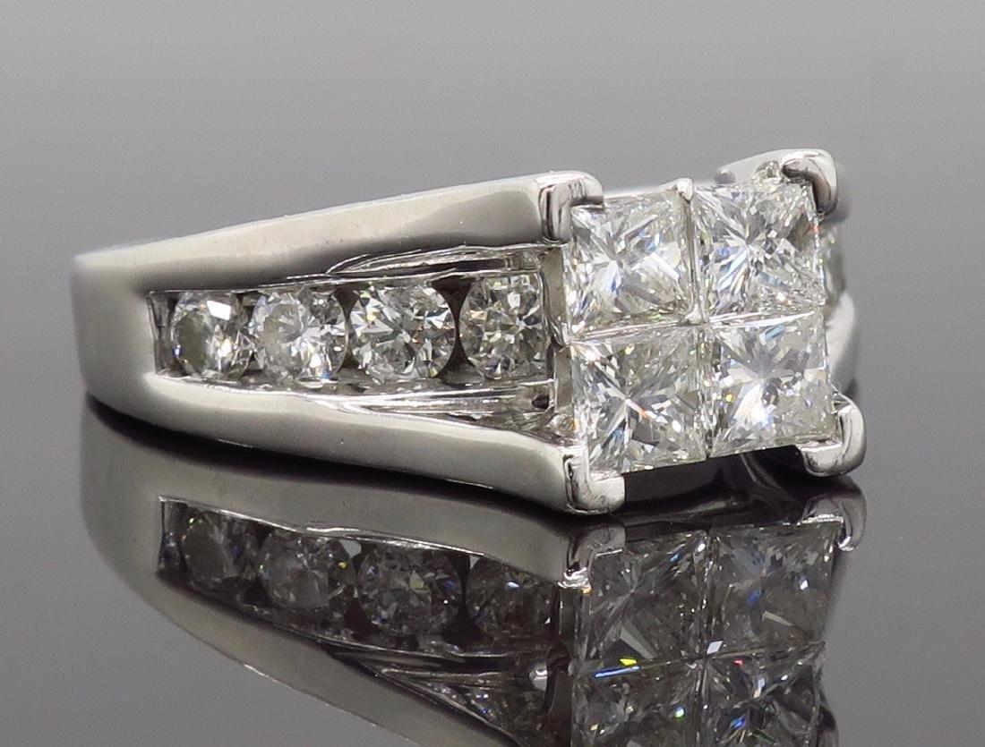 14KT White Gold 2.00ctw Diamond Ring - 8