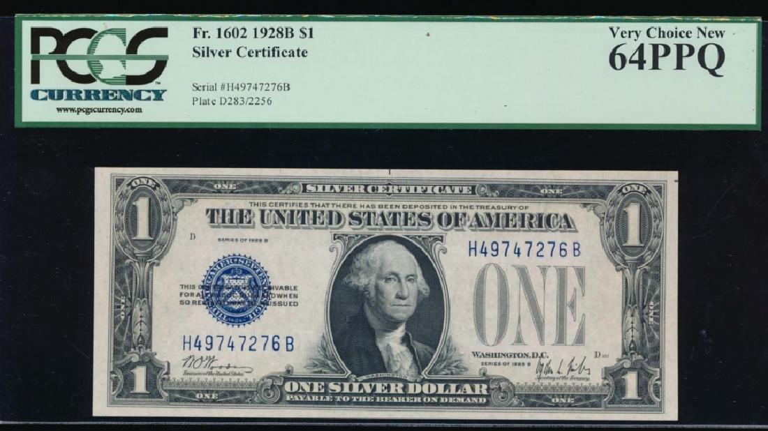 1928B $1 Silver Certificate PCGS 64PPQ