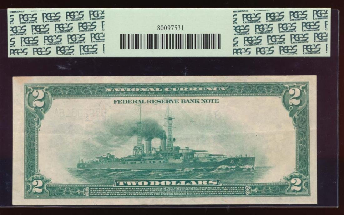 1918 $2 New York Federal Reserve Bank Note PCGS 35PPQ - 2
