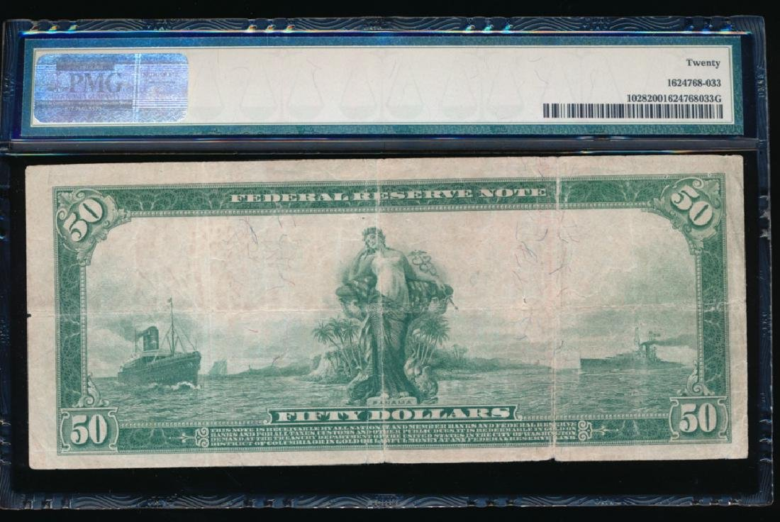 1914 $50 New York Federal Reserve Note PMG 20 - 2