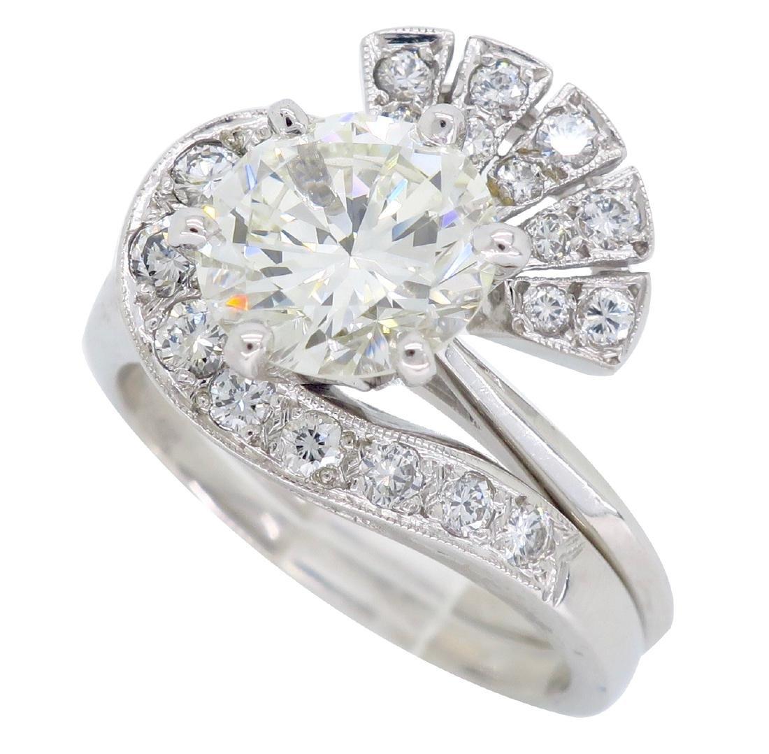 14KT White Gold GIA Cert 3.08ctw Diamond Ring - 3