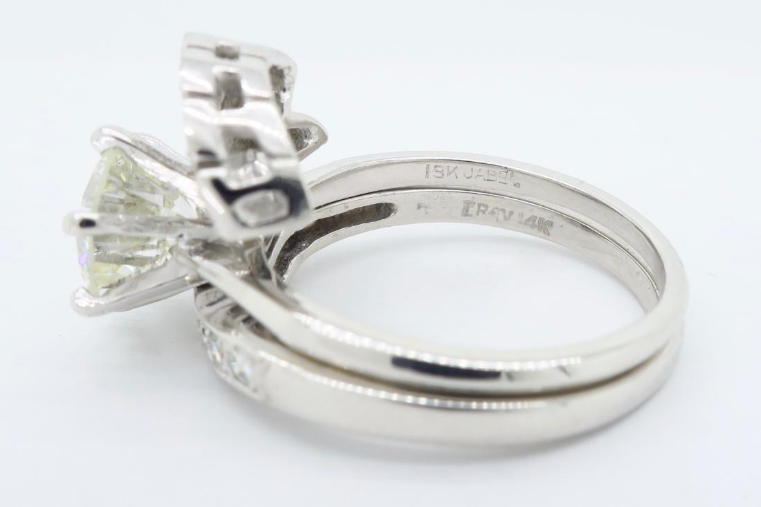 14KT White Gold GIA Cert 3.08ctw Diamond Ring - 4
