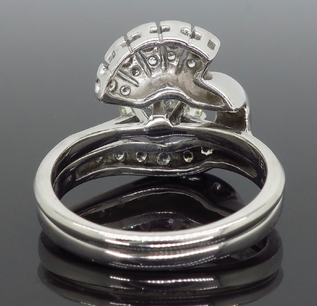 14KT White Gold GIA Cert 3.08ctw Diamond Ring - 5