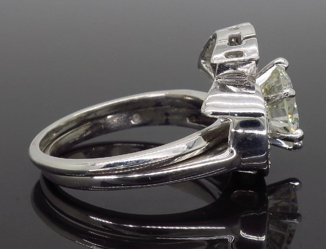 14KT White Gold GIA Cert 3.08ctw Diamond Ring - 6