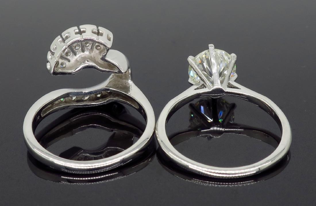 14KT White Gold GIA Cert 3.08ctw Diamond Ring - 8