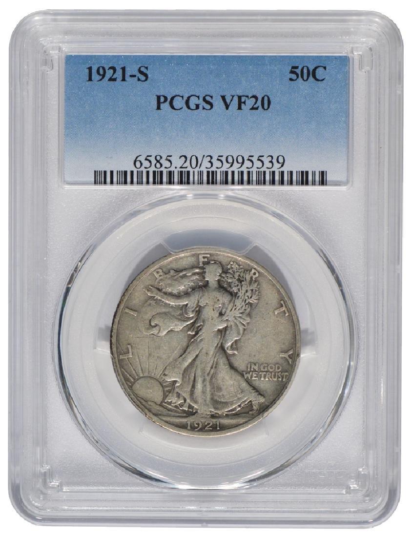 1921-S Walking Liberty Half Dollar PCGS VF20