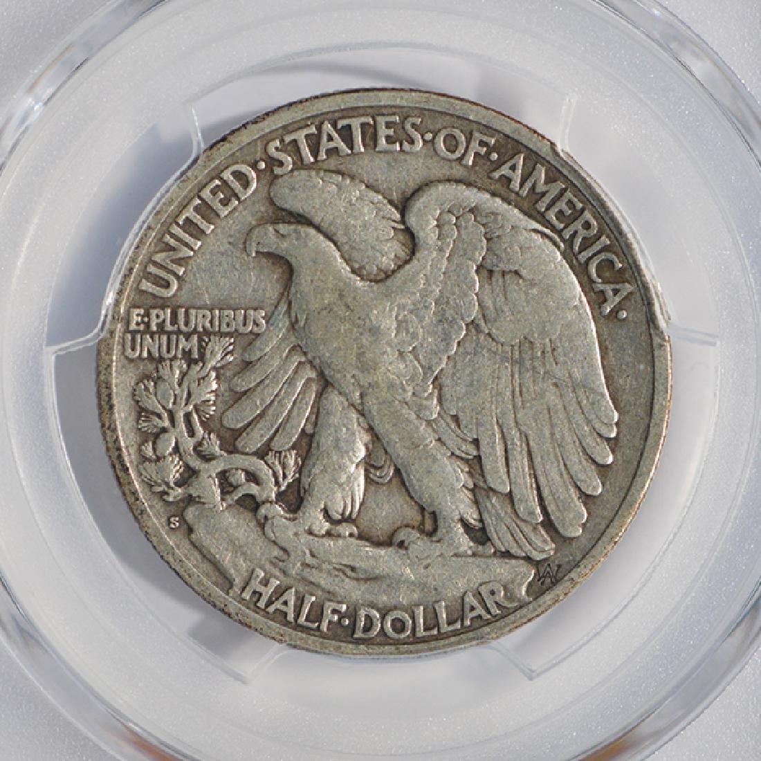 1921-S Walking Liberty Half Dollar PCGS VF20 - 4