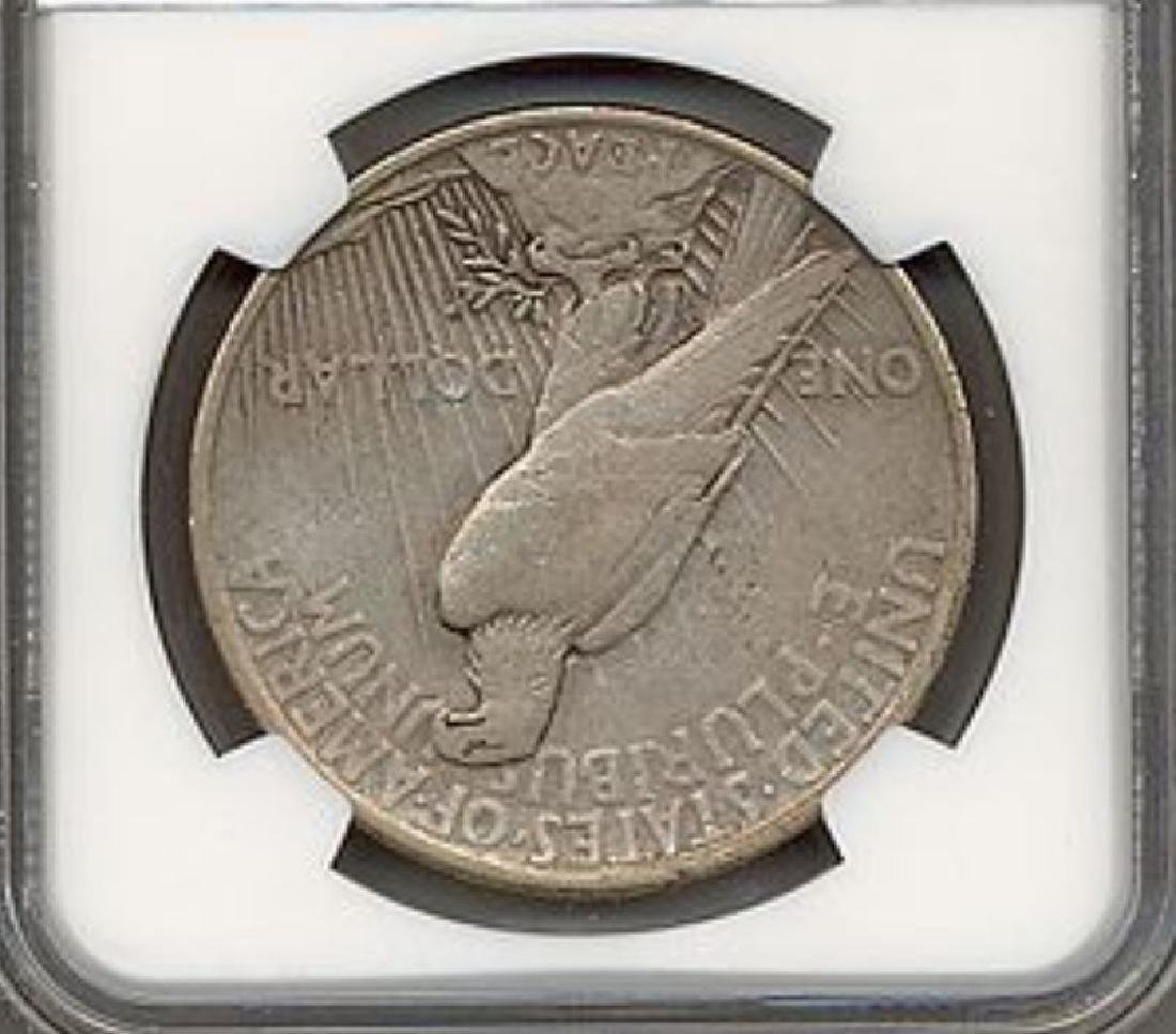 1921 $1 Peace High Relief Silver Dollar NGC VF25 - 2