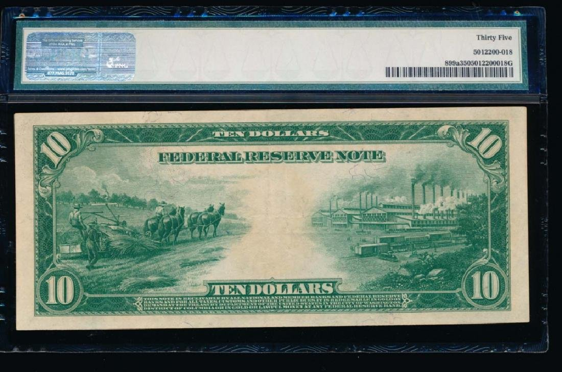 1914 $10 Red Seal Saint Louis Federal Reserve Note PMG - 2