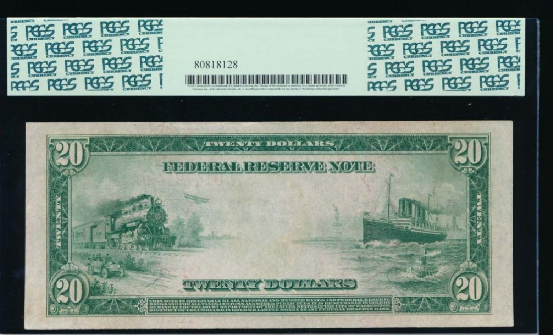 1914 $20 Red Seal Federal Reserve Note PCGS 58 - 2