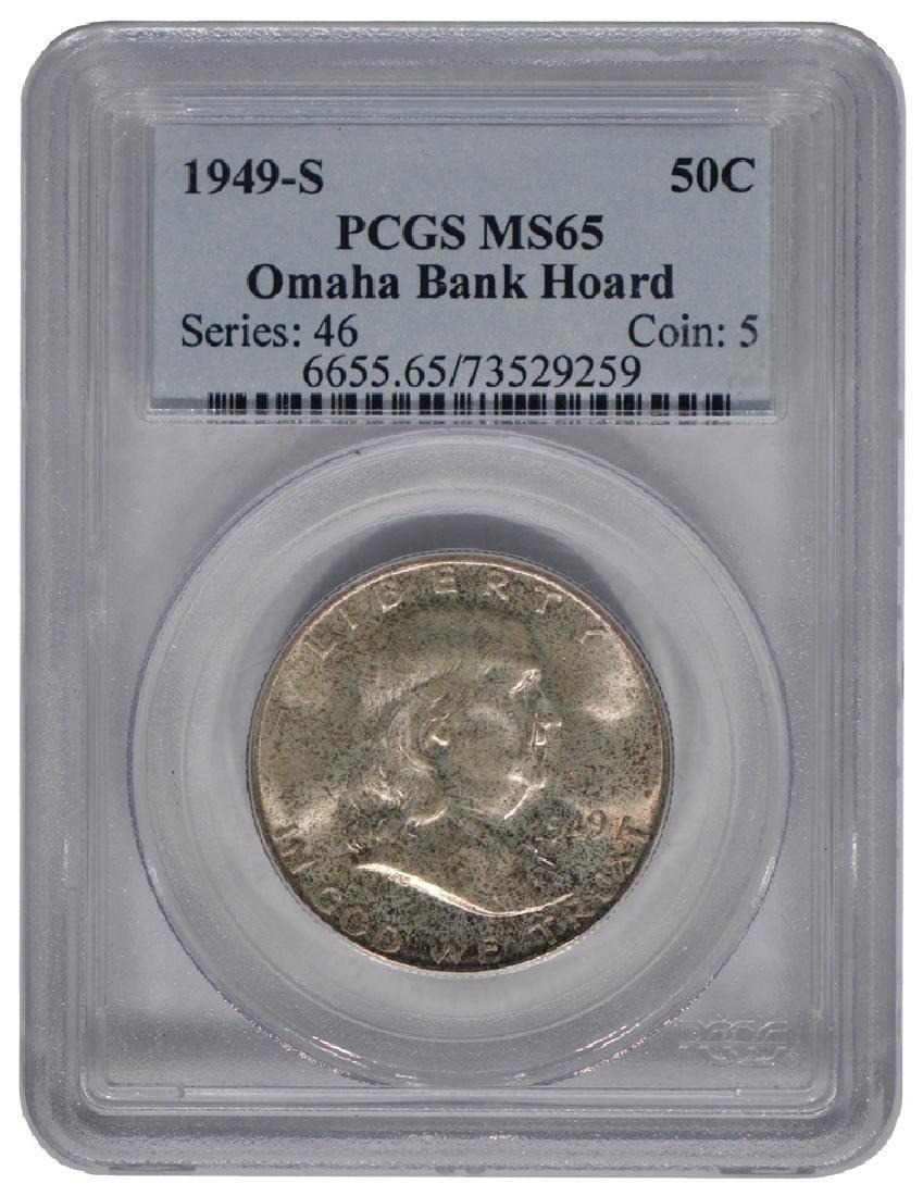1949-S Franklin Half Dollar Coin PCGS MS65