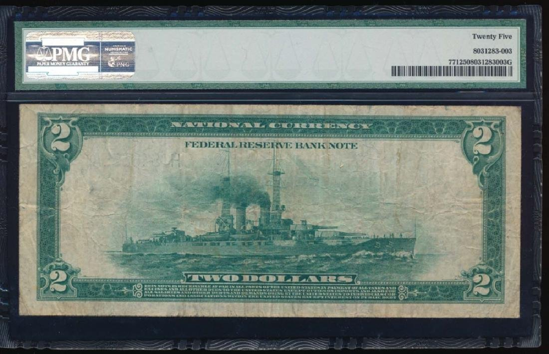 1918 $2 St Louis Federal Reserve Bank Note PMG 25 - 2