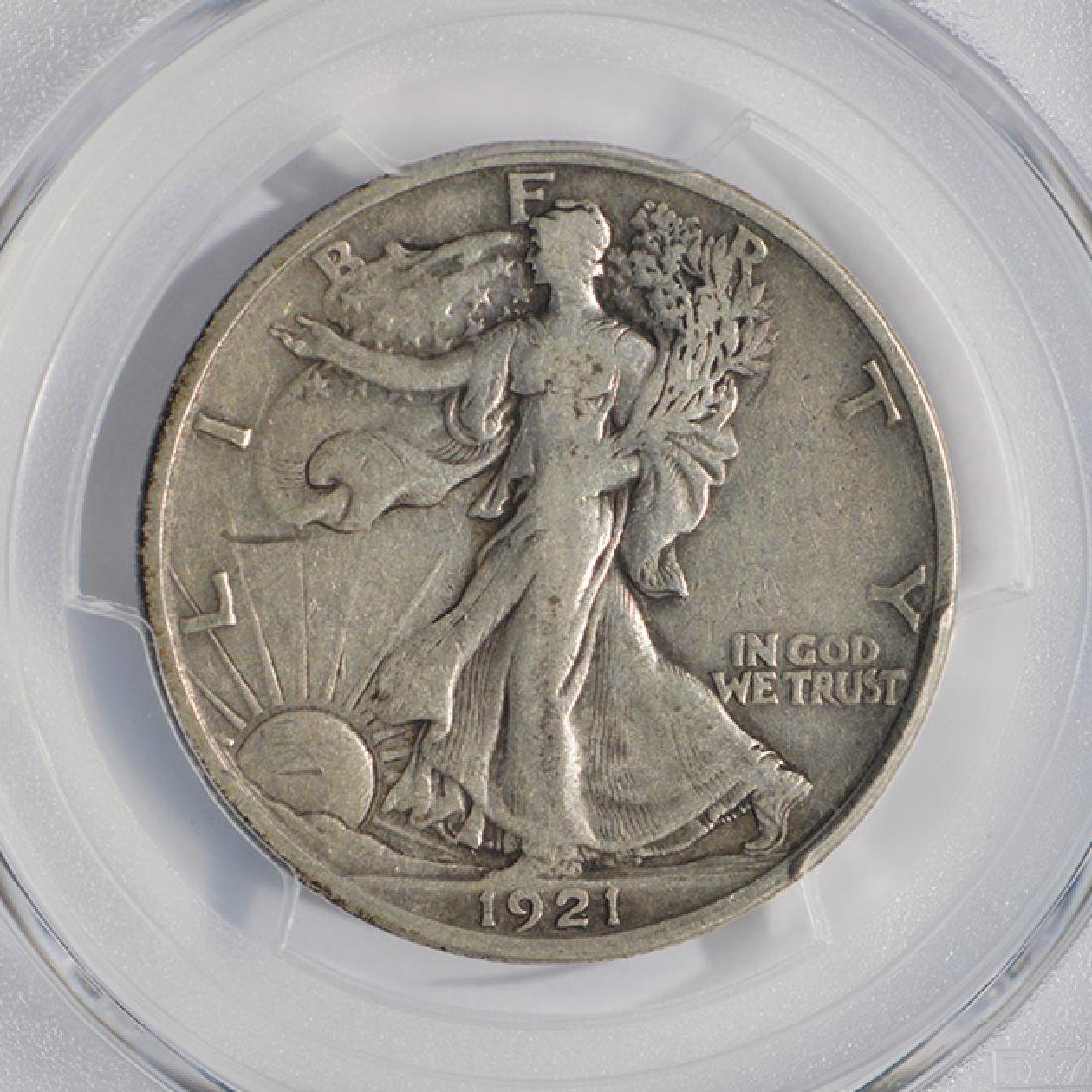 1921-S Walking Liberty Half Dollar PCGS VF20 - 3