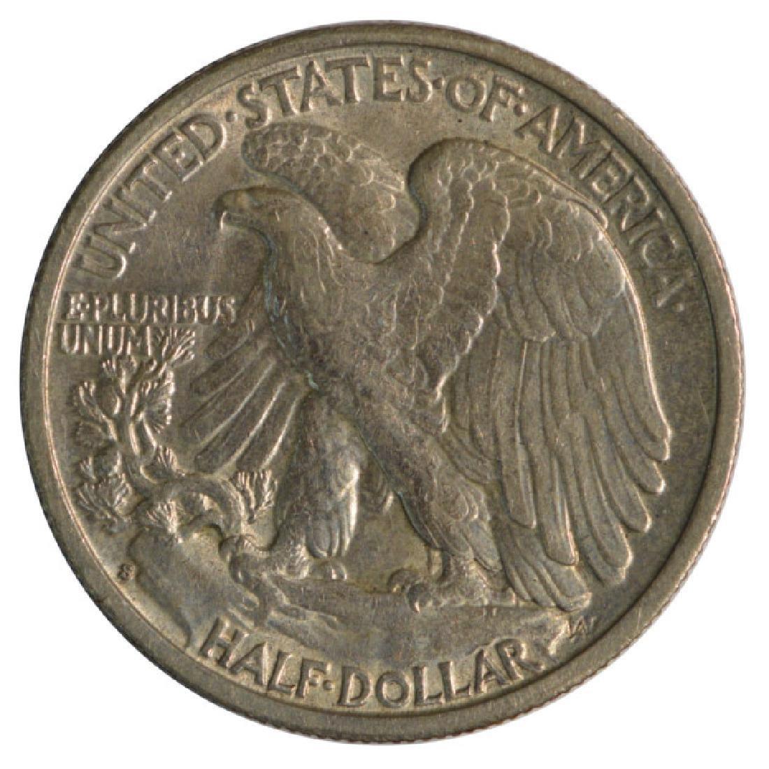 1937-S Walking Liberty Half Dollar Coin - 2