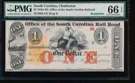 18401870s 1 South Carolina Rail Road Note PMG 66EPQ